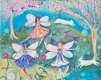 White rabbits and fairies