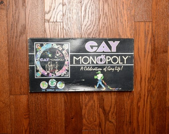 vintage 80s Gay Monopoly Parker Sisters Celebration of Gay Life RARE 1983 board game LGBT pride