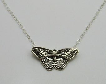 Handmade Silver Butterfly Necklace, Butterfly Jewelry, Silver Butterfly, Original and One of A Kind, Dimensional Jewelry, Artisan Jewelry