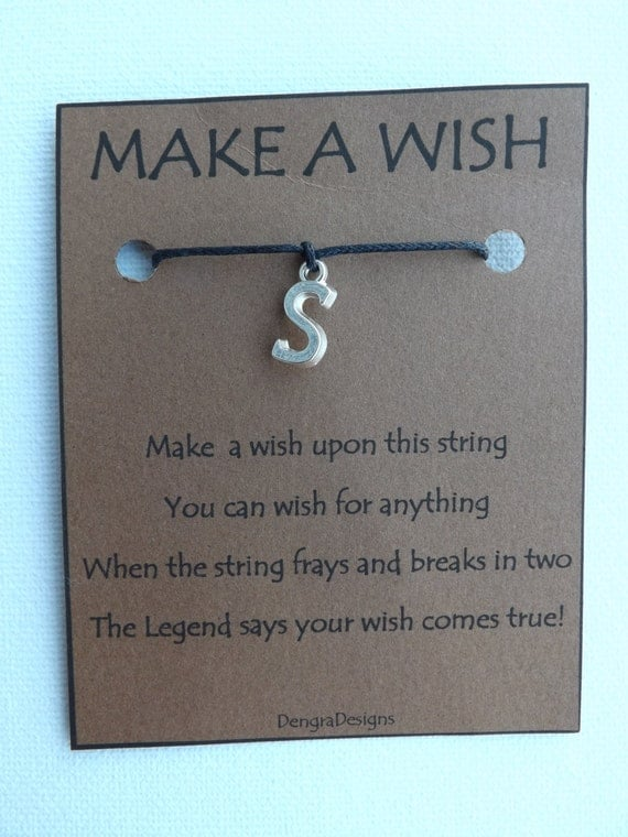 Letter S Wish String
