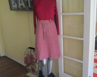 1960s Mod Red Dress Turtleneck Size 8 10 / Vintage Windsor Castle Dress