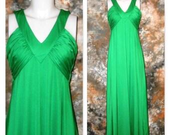 60s Green Dress Long Green Dress Bombshell Dress Green Maxi Dress Green Summer Dress 1960s Green Gown Green Evening Dress Designer Gown