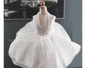 Pageant OOC Marilyn Monroe Christmas White subway dress Costume National wear Hollywood Halloween custom 3/6m 12m 18m 2 3 4 5 6 7 8 9 10 yrs