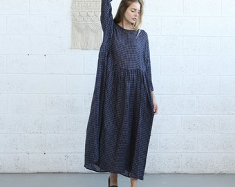 SALE!Oversized maxi plaid dress.