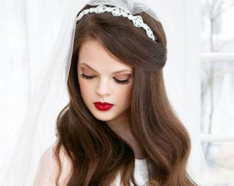 SALE Rhinestone Headband, Wedding Rhinestone Tiara, Bridal Crystal Headband, Tiara Rhinestone, Crystal Bridal Headband, Crystal Headband MAE