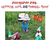 Deal of the Month! Doomsday Dan, Gertrude Guts, Pinwheel Penny