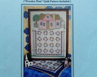 dresden plate quilt etsy. Black Bedroom Furniture Sets. Home Design Ideas