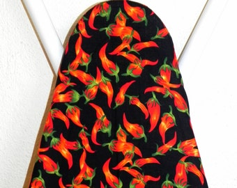 Ironing Board Cover - Red  Hot Chili Peppers Fabric - Laundry and Housewares