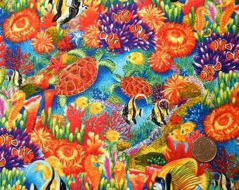 Colorful Under the Sea Cotton Fabric