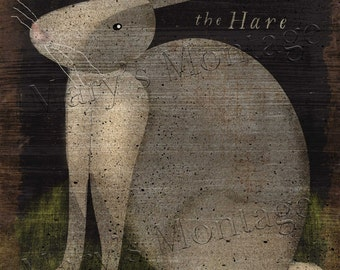 The Hare, FolkArt, 8x10, printable download