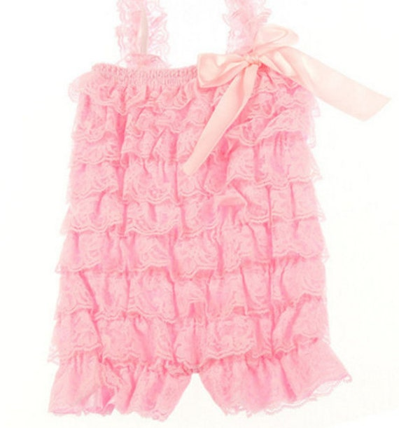 Pink Baby Lace Romper,Newborn Romper,Ruffle Romper,Petti Lace Romper,Newborn Take Home Outfit,Coming Home Outfit,Hospital Outfit,FAST SHIP