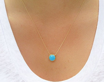 Turquoise  Necklace - Pendant Necklace - Turquoise Necklace - Turquoise Jewelry