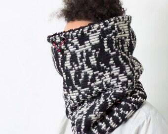 Loop scarf mens wool loop Snock® fleece lined loop
