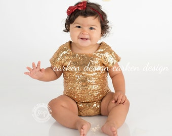 sequin leotard one piece READY TO SHIP romper baby toddler leotard girl bodysuit top t shirt sparkle