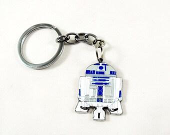 Star Wars Key Chain, Key Ring,  R2D2 Droid Mens Womens Gift Handmade