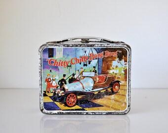 Vintage Chitty Chitty Bang Bang Metal Lunchbox 1968