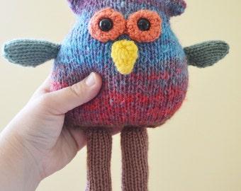 Owen the Owl Crochet Amigurumi Plush Plushie Stuffed Animal Softie READY TO SHIP