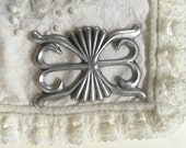 Silver Plated Cast Concha  (1 pc)