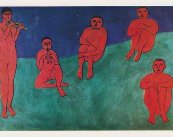 "H. Matisse ""Music"" Print, Postcard -- 1974"