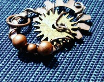 Beaded Steampunk Pendant