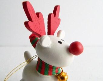 Vintage Belvedeer Reindeer Christmas Ornament - Tree Decorations - 1980s Avon