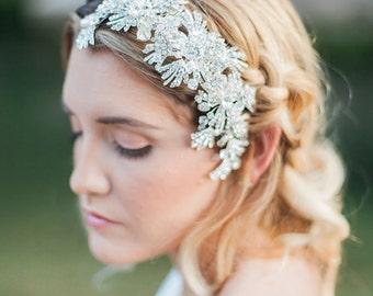 Crystal bridal headpiece, Art Deco Crystal Bridal Hair Piece, Wedding Hair Accessories, Bridal Headpiece, Ready to Ship, Pearl Hair Comb