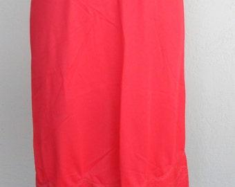 Pandora Red Half Slip Vintage Size Medium Slip Skirt