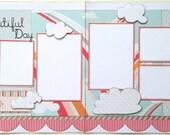 Beautiful Day Premade 2 Page 12x12 Scrapbook Layout