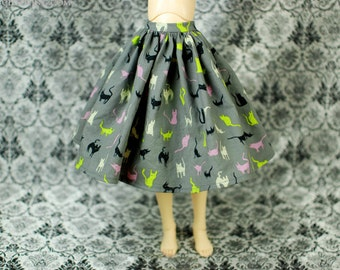 Feeple 60 Delf Grey Cat Skirt For SD BJD