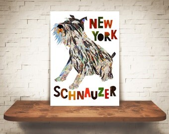 Schnauzer-Schnauzer dog-Schnauzer art print-Schnauzer lover-dog decor-dog print-dog gift-Schnauzer gift-art print-dog decor-dog art print