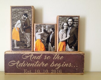 Personalized Wedding gift for couple | Bridal Shower Gift | Rustic Wedding Decor | valentine's gift  Anniversary gift | reception decor idea