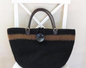 Crochet Purse Pattern - Crochet Felted Purse - Crochet Bag Pattern - Easy Crochet Pattern - Felted Purse Pattern - Deborah O'Leary Patterns