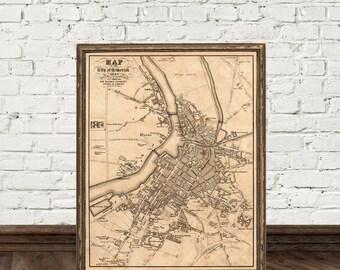 Limerick map - Old map of Limerick - Fine archival print