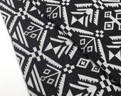 Thai Woven Fabric Tribal Fabric Native Fabric by the yard Ethnic fabric Aztec fabric Craft Supplies Woven Textile 1/2 yard Black White(WF77)