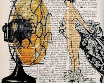 BELLE Girl Art Print Art Dictionary Art Sommer Night Cool Fan Fashion Art Illustration Art Mia 1