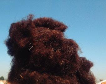 Churra Bragançana wool natural mix for Stuffing or Felting 90gm