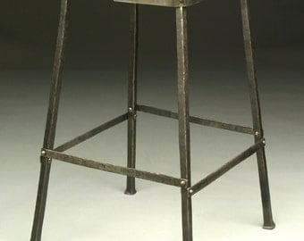 Riveted Handforged Bar Stool