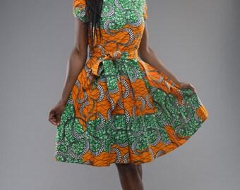 NEW - ORANGE Alice-in-wonderland dress by GITAS Portal