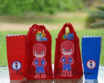 Spider-Man Favor Bags, Spider-Man Birthday, Superhero Favor Bags, Superhero Birthday, 10 Spider-Man Favor Bags