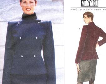 State of Claude Montana jacket & skirt pattern -- Vogue Paris Original 1890