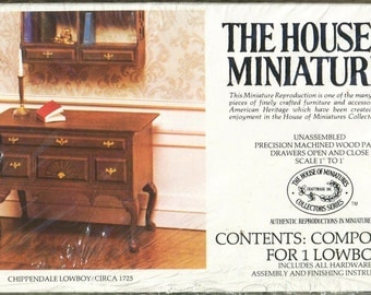 Chippendale LowBoy The House of Miniatures Dollhouse Furniture 40024