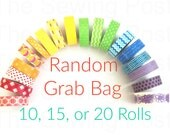 Random Washi Tape Grab Bags: 10, 15, 20 rolls
