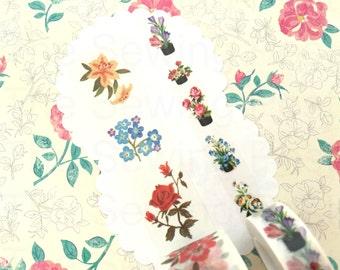 Washi Tape Set: Vintage Flowers