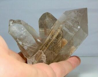 Quartz Crystal Cluster Lightly Rutilated Display Specimen Amazing Quality Display Specimen Minas Gerais, Brazil 578 grams in Weight