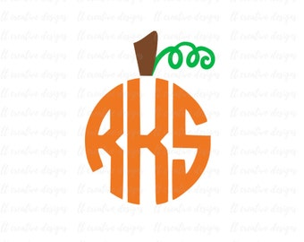 Pumpkin Stem SVG, Pumpkin Monogram SVG, Fall Monogram SVG, Pumpkin Svg, Pumpkin Stem, Cricut Files, Silhouette Files
