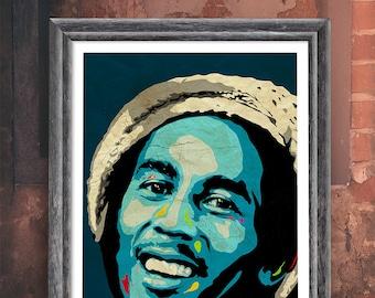 Pop Art Bob Marley Print Poster.