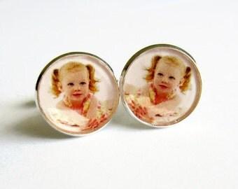 Custom Photo Cuff Links, Personalised Photo Cufflinks, Keepsake Jewelry, Baby Picture, Gift for Dad, Husband Gift, Wedding Anniversary