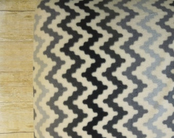 Rustic Chevron Fleece Crib Sheet Fitted - Toddler | Baby | black | gray | cream | southwestern | modern | geometric