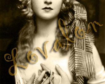 Beautiful Gypsy... Deluxe Erotic Art Print... 1920's Vintage Glamour Photo... Available In Various Sizes