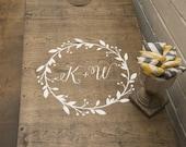 Wedding Cornhole Decals   Wedding Monogram   Bride and Groom Initials   DIY Wedding Decor   Wedding Gifts for Couple
